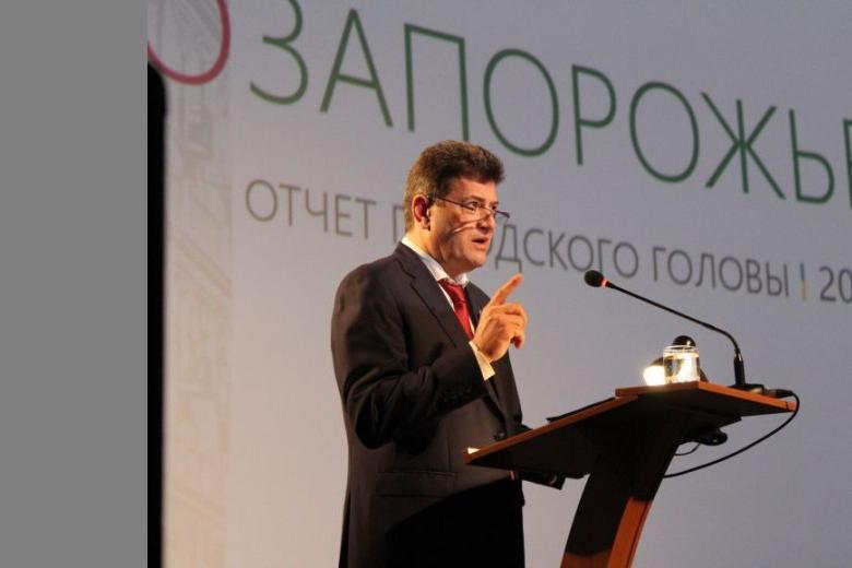 В Запорожье мэр отчитался о проделанной работе
