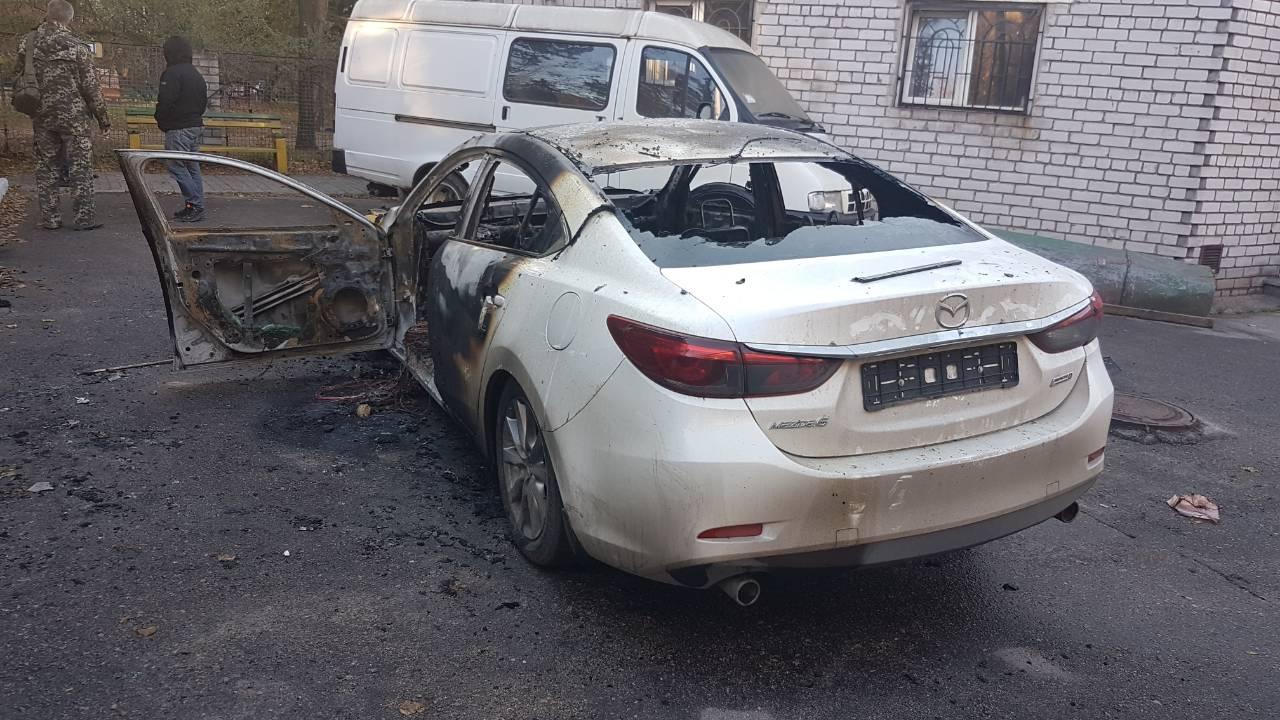 Поджог авто директора департамента экологии в Запорожье: подробности (Фото)