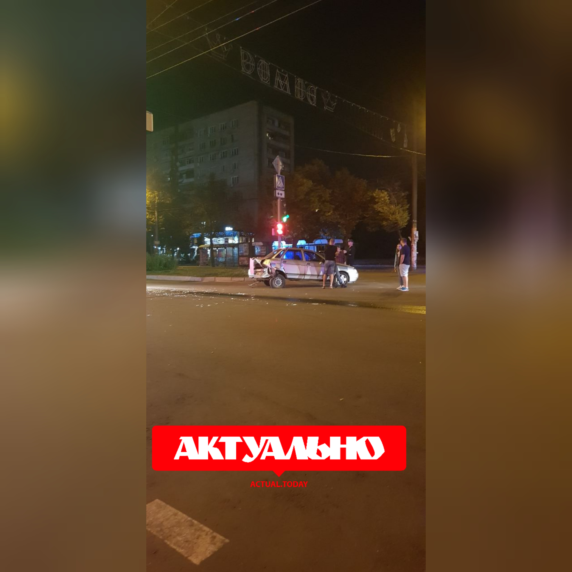 В Запорожье столкнулись ВАЗ-2109 и ВАЗ-2110