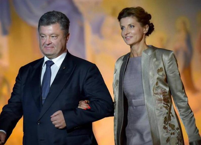 Семья Порошенко отмечает 33 годовщину совместной жизни