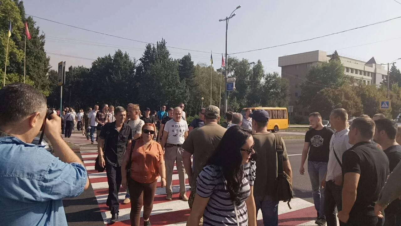 В Запорожье ветераны АТО заблокировали движение маршруток