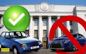 Украинцы требуют пересадить нардепов на «Таврии»