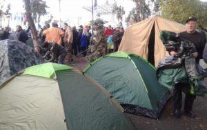 Митинги в центре Киева. В палатках под Радой ночевали более 200 человек