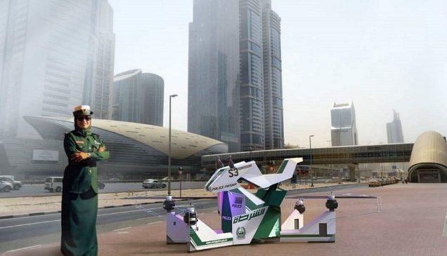 Полиция Дубая протестировала специально созданный для неё ховербайк