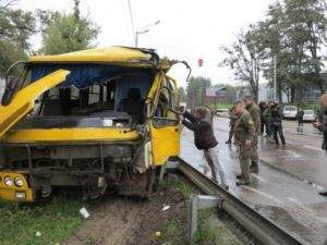 Автобус с бойцами Нацгвардии попал в смертельное ДТП под Киевом
