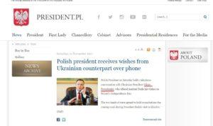 Пресс-служба президента Польши «забыла» имя Порошенко