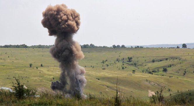 Взрывы, взволновали запорожцев, раздавались с военного полигона