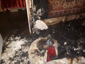В центре Запорожья в результате пожара погиб человек