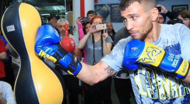 Ломаченко провел открытую тренировку перед боем с Ригондо