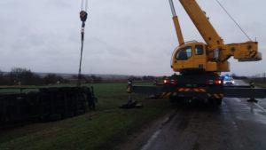 В Запорожской области 35 тонн масла ушли в кювет, — ФОТО
