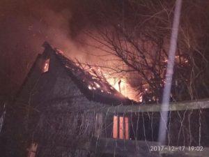 В Запорожье горел двухэтажный дом