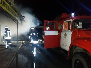 В Запорожской области сожгли магазин, — ФОТО
