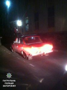 В Запорожье пьяный водитель потерял свое авто