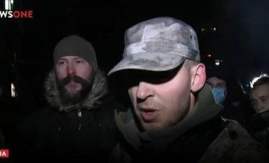Протестующие разбирают баррикады под телеканалом NewsOne