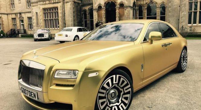 В Великобритании золотой Ролс Ройс выставили на продажу за 15 биткоинов