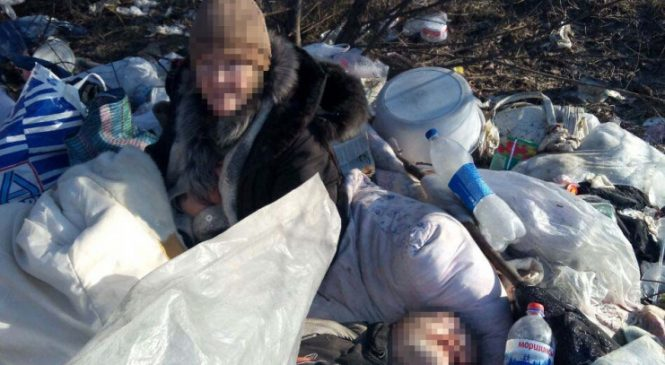 В Запорожье бездомная женщина провела три дня возле трупа
