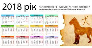 Выходные дни 2018 года: Кабмин утвердил перенос рабочих дней в Украине