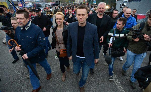 На митинге в Москве задержан Алексей Навальный
