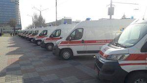 В Запорожье вручили новую коммунальную технику и машины скорой помощи