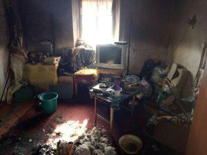 В Запорожской области во время пожара пострадал мужчина