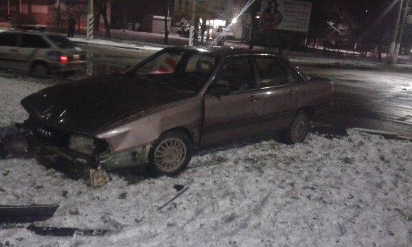 В Мелитополе мертвецки пьяный водитель на Audi устроил ДТП