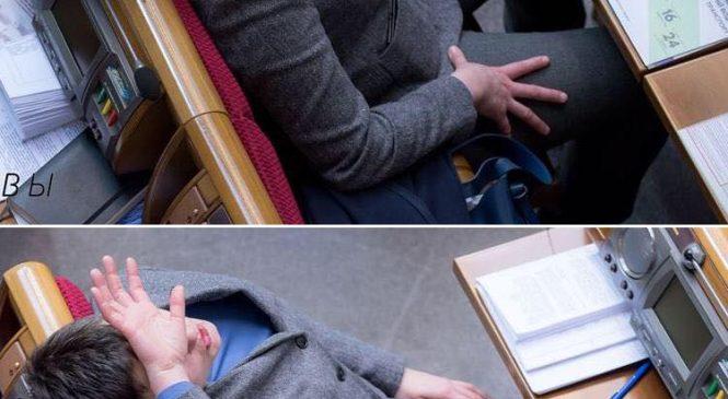 Глядя на поведение Савченко в Раде, ей посоветовали  «не мешать водку с пивом», — ФОТО
