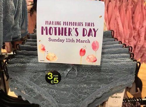 Распродажа странных подарков ко дню матери
