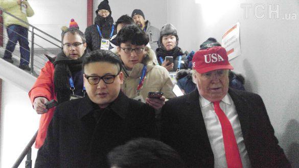 Двойников Трампа и Ким Чен Ына на открытии Олимпиады выгнали со стадиона, — ФОТО