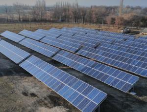 В Запорожской области запустили солнечную электростанцию