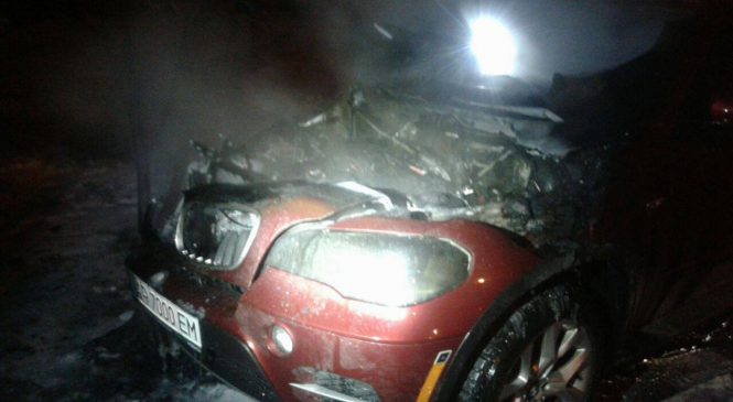 В Запорожье загорелась BMW, — ФОТО
