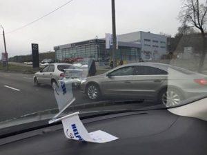 В Запорожье из-за аварии образовалась пробка