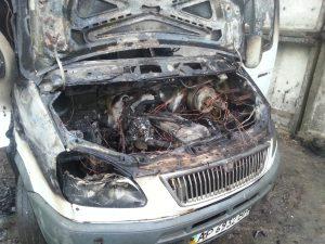 В Запорожской области сгорела «Газель»