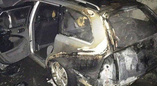 В Мелитополе сгорела CHEVROLET Lacetti