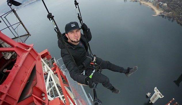 От страха застынет кровь: Экстремал организовал аттракцион в Запорожье на высоте 200 метров, — ВИДЕО