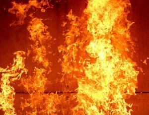 В Запорожской области горел завод