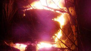Пожар на недостроенных Запорожских мостах