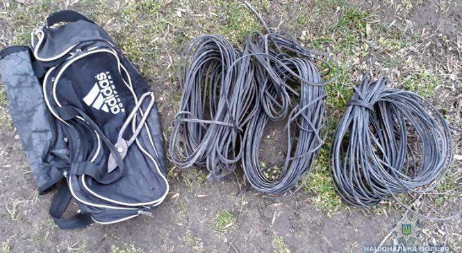 В Запорожской области задержан вор укравший 180 метров кабеля