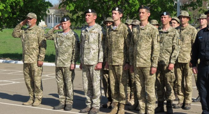 Бердянские морские пехотинцы отметили столетие военно-морского флота Украины — ФОТОРЕПОРТАЖ