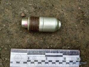 В Запорожской области полицейские изъяли 2 гранаты и гранатомет