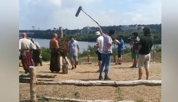 На запорожском острове турецкие режиссеры снимают документальное кино (Видео)