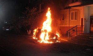 Ночью в Запорожье горели иномарки