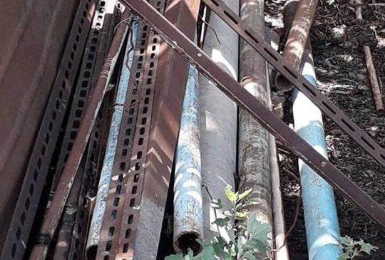 В Запорожской области при обыске незаконно работающего пункта приема изъяли 1 тонну металлолома (ФОТО)