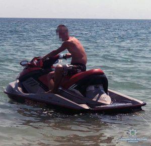 У Запорізькій області затримали п'яного гідроцикліста