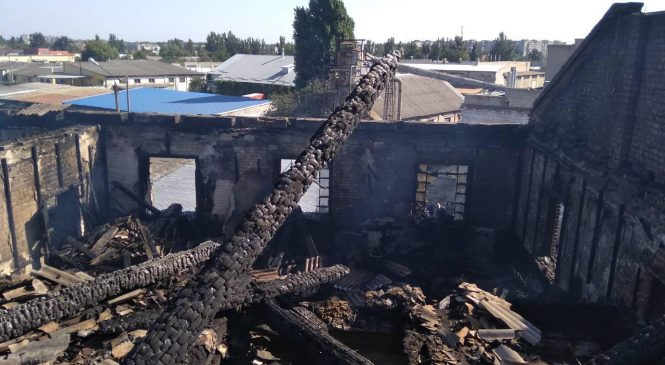 У Запорізькій області згоріла котельня (фото)