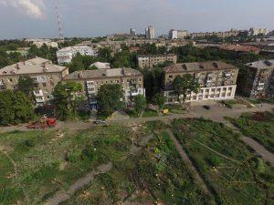 В сети появились фото вырубленного парка в Запорожье с высоты птичьего полета (Фото)