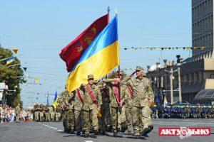 В Запорожье прошел военный парад, приуроченный к дню независимости Украины (Фоторепортаж, часть 1)