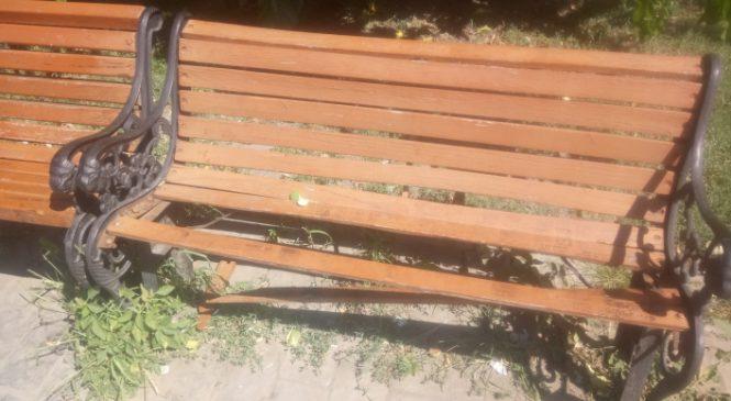 В Запорожской области вандалы раскурочили лавочки (Фото)