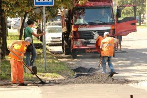 В Запорожье по одной из улиц выполнен аварийный ямочный ремонт проезжей части — далее по плану ремонт внутриквартальных дорог