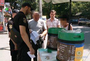 Во время очередного рейда в Запорожье полицейские выявили места незаконной торговли