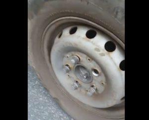 У Запоріжжі маршрутка їздила з відкрученим колесом (відео)